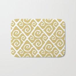 Diamond Pattern Gold Bath Mat