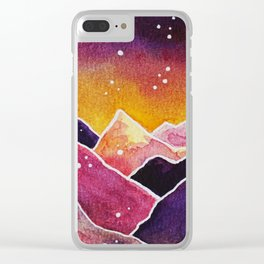 Sunset Mountains Clear iPhone Case