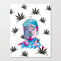 """chance the rapper Canvas Prints featuring """"Chance The Rapper"""" by Sydney The Artist"""