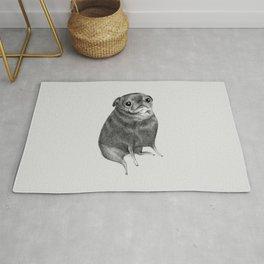 Sweet Black Pug Rug