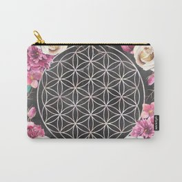Flower of Life Rose Garden Carry-All Pouch