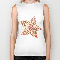 starfish Biker Tanks featuring Starfish by SvetIu