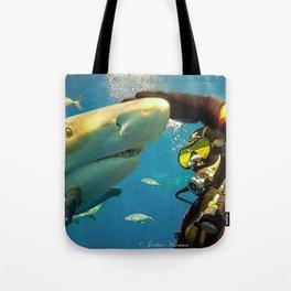 Shark Bite Diving Tote Bag