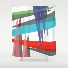 Ambient 19 white Shower Curtain