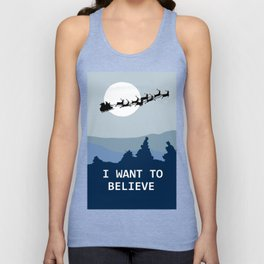 I want to believe in Santa Unisex Tank Top