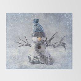 Cute snowman frozen freeze Throw Blanket