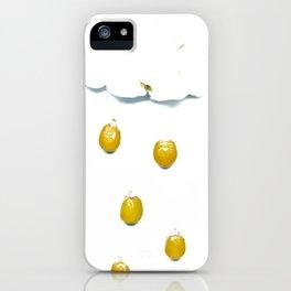 Popcorn Movie Popcorn Cloud with Popcorn Kernel Rain iPhone Case