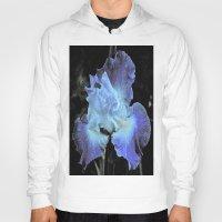 iris Hoodies featuring Iris by Sheri L. Wright