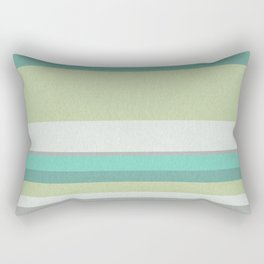 Turquoise olive striped Rectangular Pillow