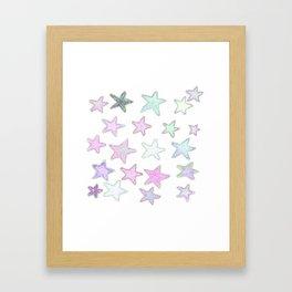 Funky Pastel Stars! Framed Art Print