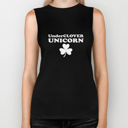 Underclover Unicorn Funny Shamrock St. Patrick's Day Biker Tank
