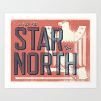 minnesota Art Prints featuring Minnesota by Erik Anthony Hamline
