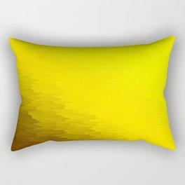 Illuminating Yellow Texture Ombre Rectangular Pillow