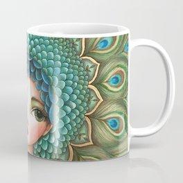 Peacock girl Coffee Mug
