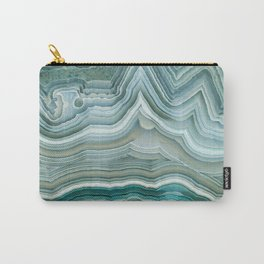 Agate Crystal Blue Carry-All Pouch