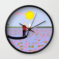 vietnam Wall Clocks featuring Vietnam by Design4u Studio