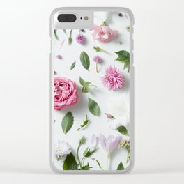 Flower Layout Clear iPhone Case