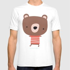 Christmas cute bears Mens Fitted Tee White SMALL