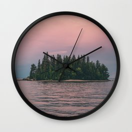 Lonely Island on Lac Saint-Jean Wall Clock