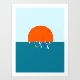 Minimal regatta in the sun Art Print