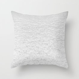Snow Texture // Snowy Powder Close up Winter Field Ski Vibes Landscape Photography Throw Pillow