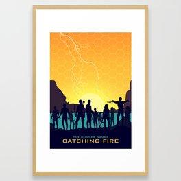 Catching Fire (Sunset Version) Framed Art Print