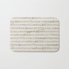 Sheet Music Bath Mat