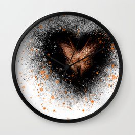 luna the butterfly Wall Clock