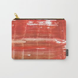 Rowan red stained watercolor texture Carry-All Pouch