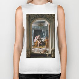 "Jan Steen ""Woman at her Toilet"" Biker Tank"