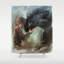 hiccup & toothless Shower Curtain