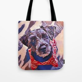The Schnoodle - A Schnauzer Poodle Mix Breed Tote Bag