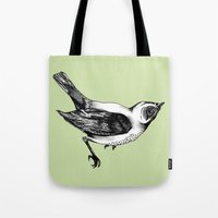 birdy Tote Bags featuring Birdy by Aubree Eisenwinter