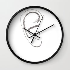an earful Right Wall Clock