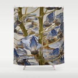 iced wisteria Shower Curtain