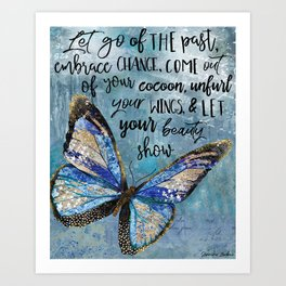 Let Go Of The Past Art Print