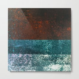 Moon Dust // red blue abstract texture, modern Metal Print