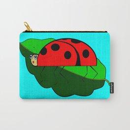 A Ladybug on a Leaf Carry-All Pouch