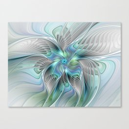 Abstract Butterfly, Fantasy Fractal Art Canvas Print