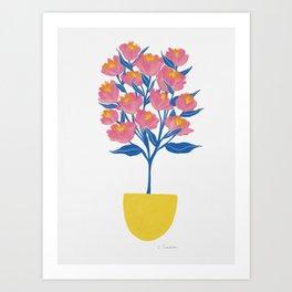 Potted Peonies Art Print