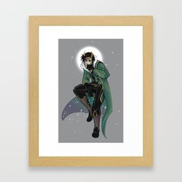 Moon King Loki Framed Art Print