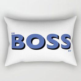 Putting the Boss into Embossed... Rectangular Pillow