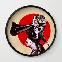 GUN OF THE TIGER Wall Clock