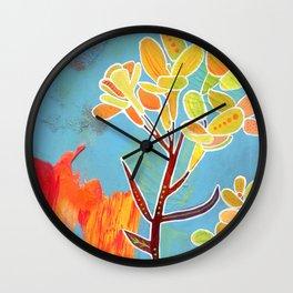 Western Wallflower Wall Clock