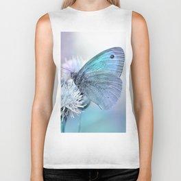 Butterfly blue 71 Biker Tank