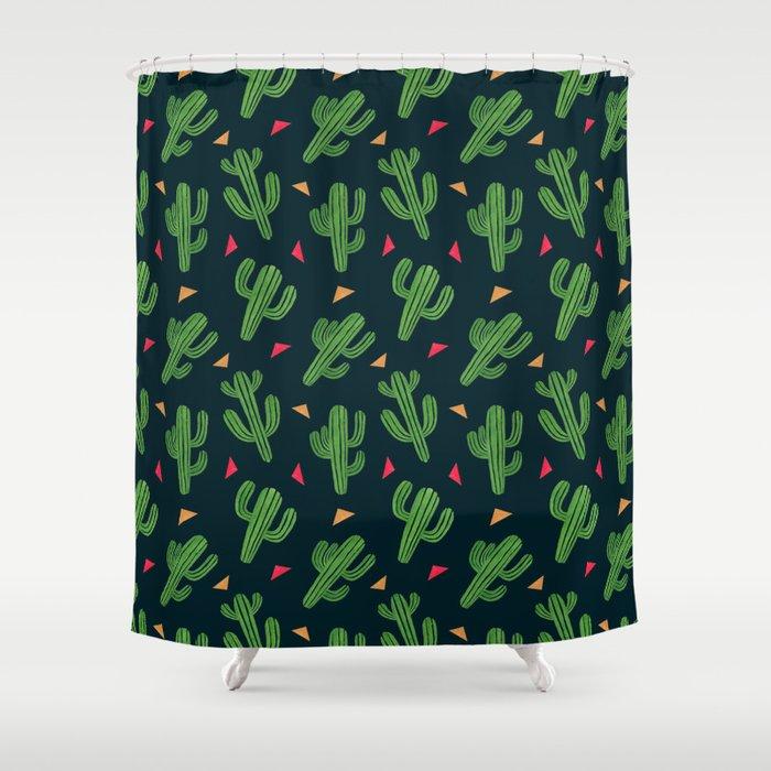 Cactus Fiesta Shower Curtain
