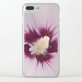 Light Pink Hibiscus Flower Clear iPhone Case