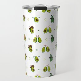 Avocado Pattern - holy guacamole collection Travel Mug