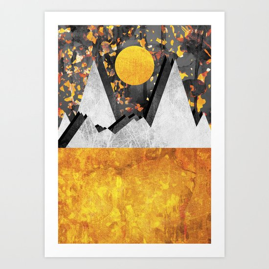 Warm winterland Art Print