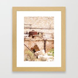 253. Abandoned Factory, Greece Framed Art Print
